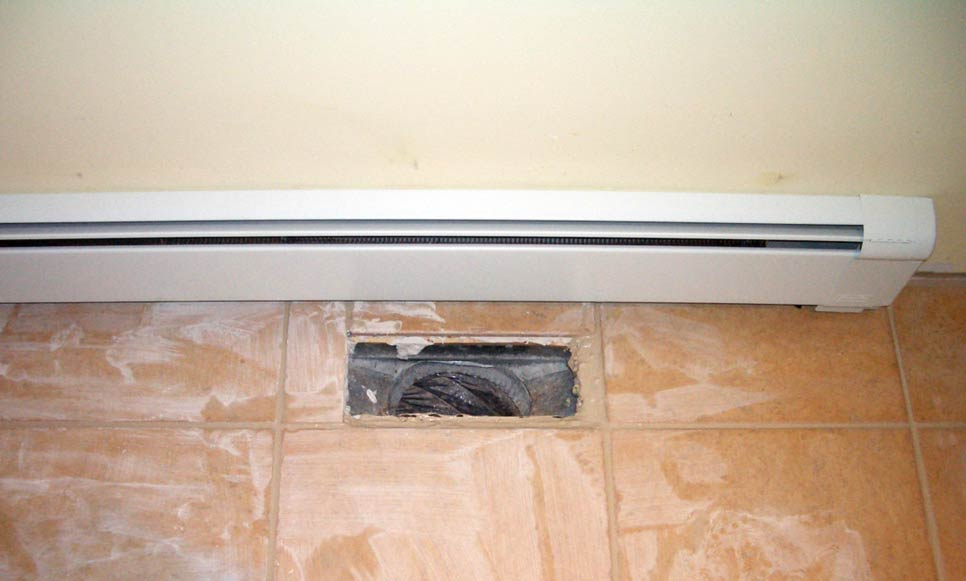 how to paint a baseboard heater